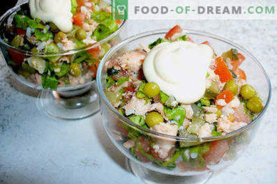 Salad from boiled fish - recipes for weekdays and holidays
