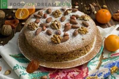 Vegetarian fruit and nut tart