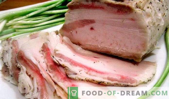 Lard in brine - the most delicious recipe, in a jar, hot or cold, for the winter