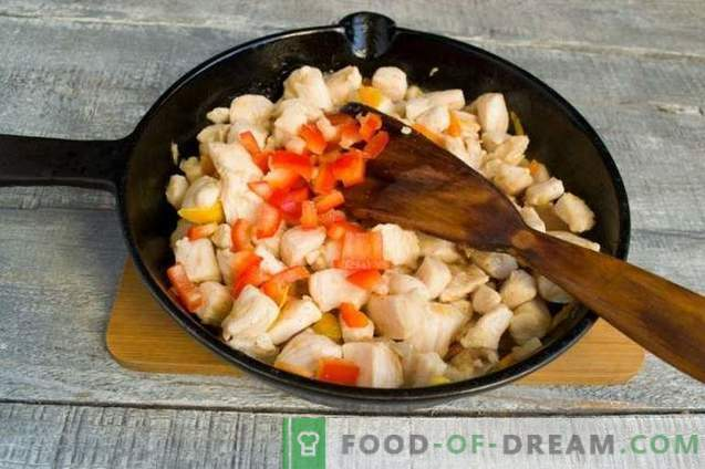 Chicken with Chinese-style vegetables