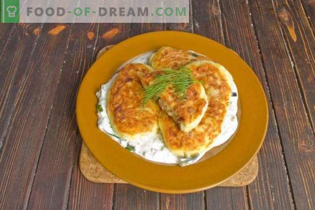 Potato patties with mushroom filling