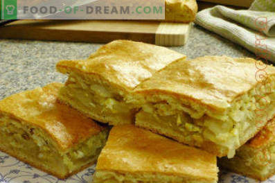 Sandwich with cabbage, cabbage pie from shortcrust dough, recipes