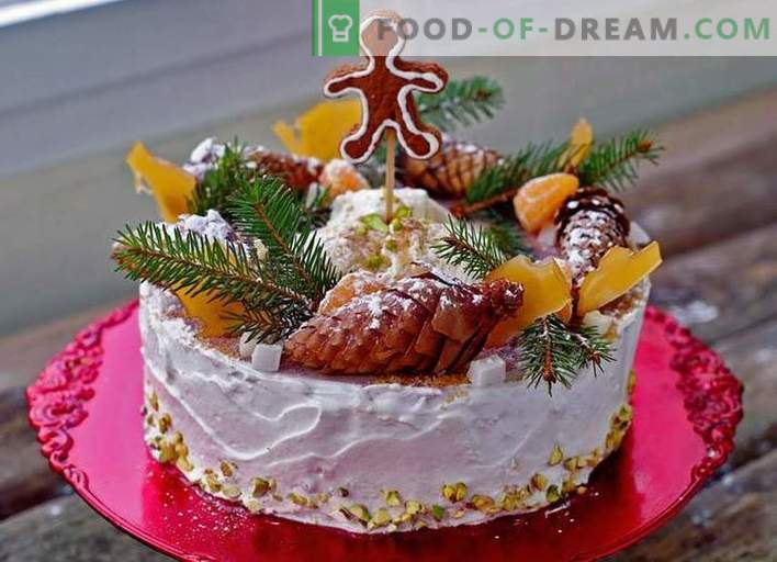 Cake for the New Year - recipes of cakes for the New Year's holiday