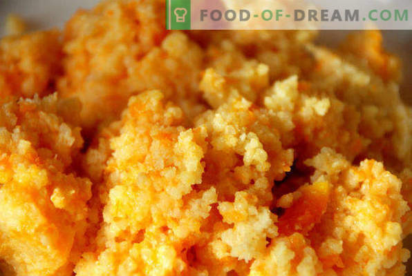 Millet porridge with pumpkin in a slow cooker, recipes with apples, meat, dried fruits, honey
