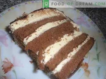How to cook a cake Bird's milk with semolina, a detailed recipe.