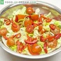 Vegetable salad with lemon-onion dressing