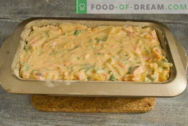 Delicious pie with cabbage in the oven