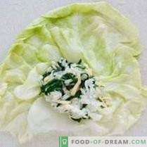 Cabbage rolls with spinach