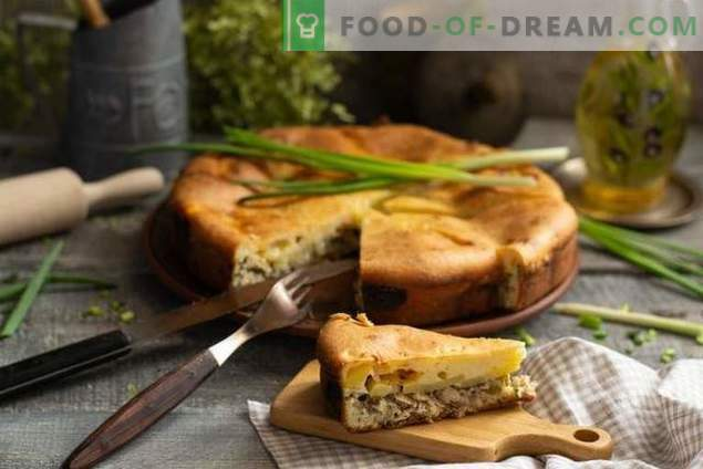 Pie with canned fish - without much hassle