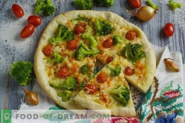Lean pizza with broccoli and tofu