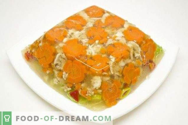Jellied Chicken with Leek and Sweet Pepper