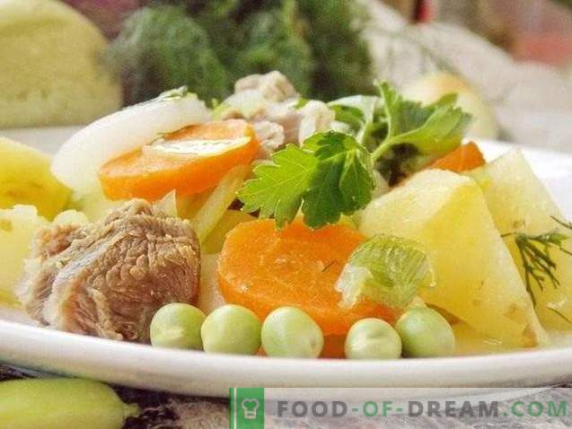 Summer stew of young vegetables