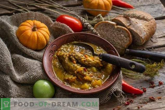 Rustic lentil soup with ribs