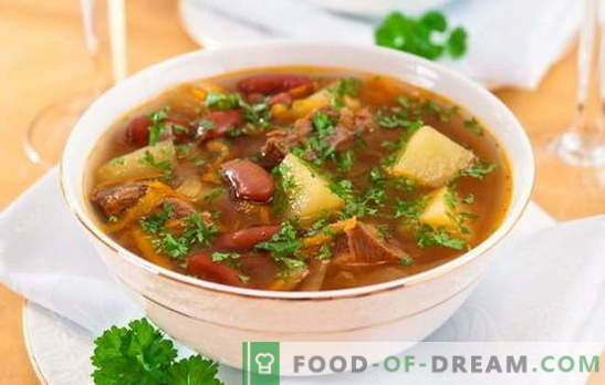 Soup with beans and meat: how to cook a delicious bean soup? Simple recipes for soup with beans and meat