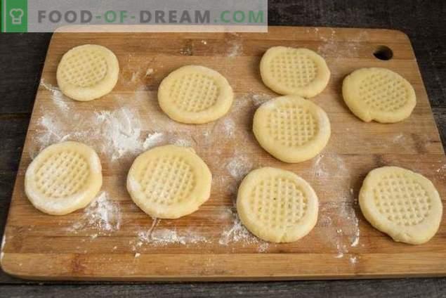 Simple homemade cookies in a pan