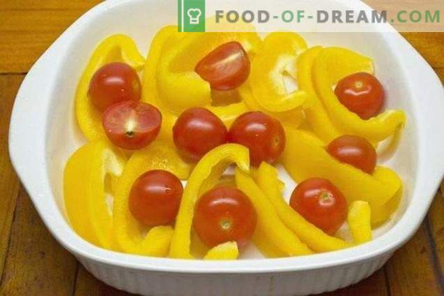 Yellow Pepper Confi with Cherry Tomatoes