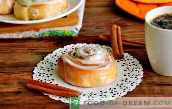 Sinabon buns at home - sweet roses on the table! Recipes Sinabon rolls at home with cinnamon, cocoa, poppy seeds, jam