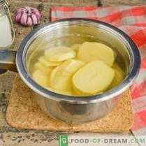 Mashed potatoes - recipe with milk and butter