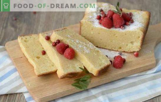 Cognitive cooking: cottage cheese cake. Good recipes for cottage cheese sponge cake - there is no limit to the perfection of home confectioners!