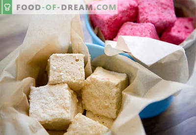 Homemade marshmallows - the best recipes. How to cook marshmallows at home.