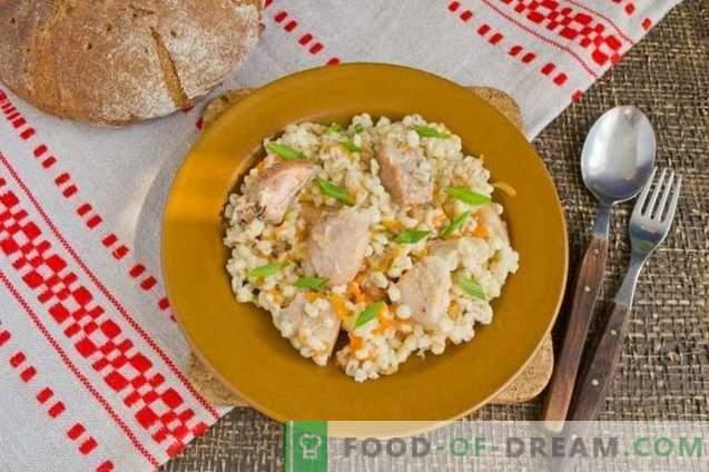 Barley porridge with meat - Belarusian barley pilaf