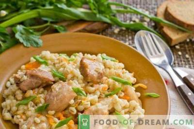 Barley porridge with meat - Belarusian barley pilaf