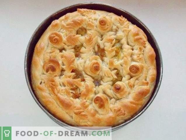 Cabbage pie on lean dough