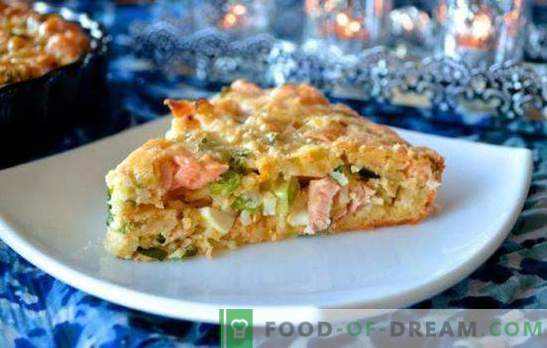 Pie with canned fish and rice - a budget dish! Variants of cakes with rice and canned fish: yeast, puff, sandy
