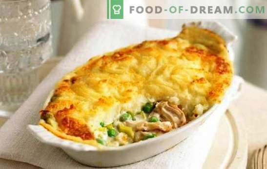 Chicken with potatoes and cheese, tomatoes, mushrooms, eggplants. How to cook chicken with potatoes and cheese in the oven and multicooker
