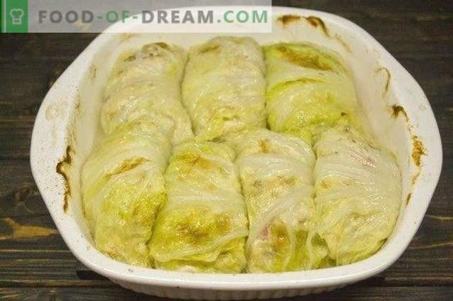Cabbage rolls in Peking cabbage