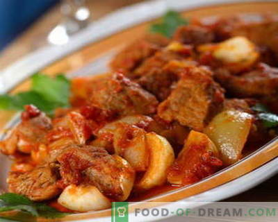 Beef stew - the best recipes. How to properly and tasty cook beef stew.