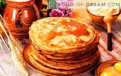 Russian pancakes with sour milk: carnival for the whole year! One dough recipe for pancakes with sour milk and a lot of sour milk pancakes with fillings