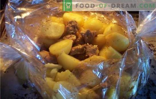 Pork with potatoes in the oven in the sleeve - hot? Recipes of pork with potatoes in the oven in the sleeve with cheese, vegetables, mustard