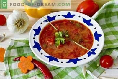 Vegetarian borsch - beetroot