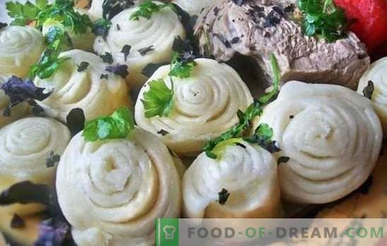 Puff khinkali - rolls with taste! Various recipes for puffed khinkali with vegetables, meat and minced meat, steamed, in the oven, in a cauldron