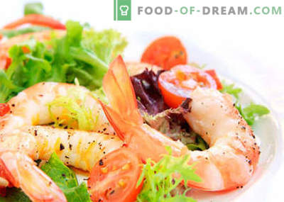 Salad with Chinese cabbage and shrimps are the best recipes. Cooking properly salad of shrimp and Chinese cabbage.