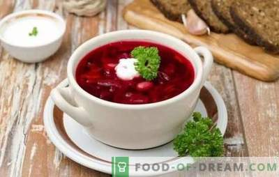 Borsch with chicken - step-by-step recipes of the traditional first course. How to cook red or green borsch with chicken (step by step)