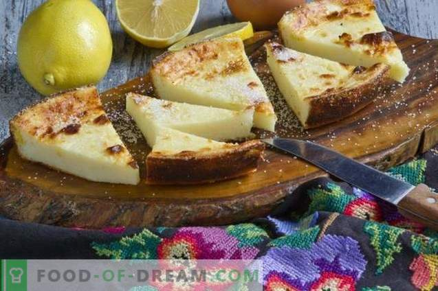 Cottage cheese casserole with semolina