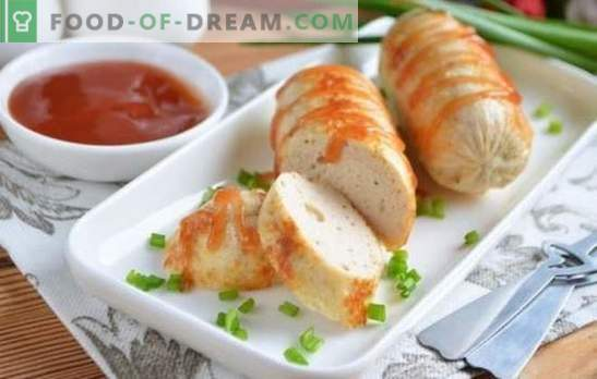 Chicken minced sausages are a useful alternative to sausages. A selection of sausage recipes from minced chicken with spices