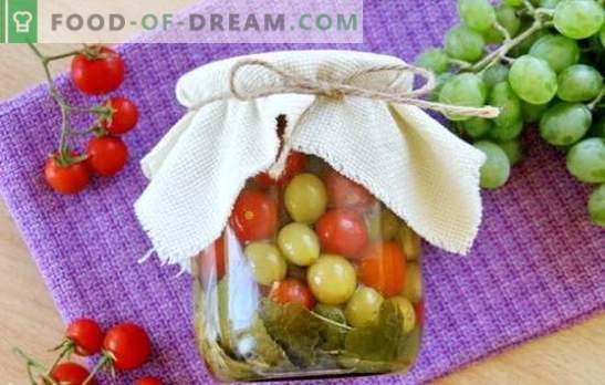 Tomatoes with grapes for the winter - the original recipe for a savory snack. How to cook tomatoes with grapes for the winter