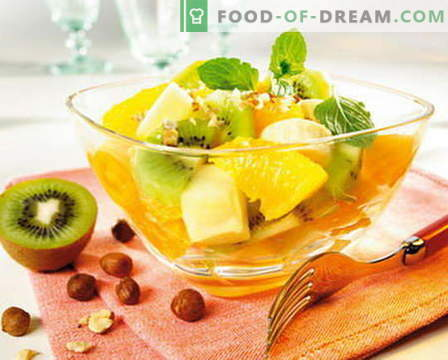 Fruit salad - the best recipes. How to properly and deliciously prepare fruit salads.
