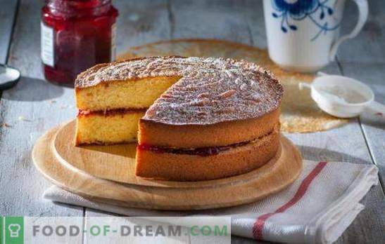 Biscuit with jam - fragrant miracle! Recipes bright and juicy biscuits with jam and sour cream, kefir, eggs, cream
