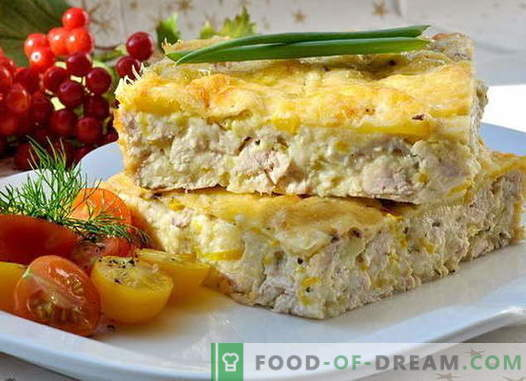 Chicken casserole - the best recipes. How to properly and tasty to make a casserole with chicken.