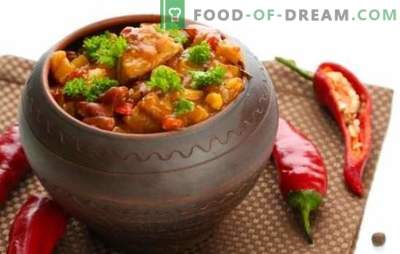 Chanahs in pots - we will visit Georgia! Recipes for a fragrant chanakhi dish in pots with chicken, meat, beans, eggplants