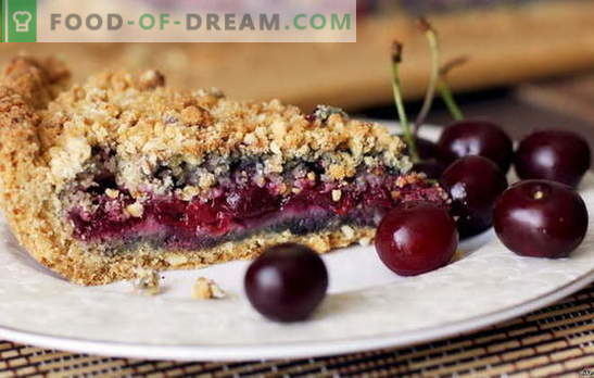 Sand cake with cherry - sweet sour pleasure. Verified recipes for shortbread cake with cherries