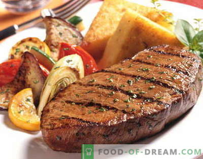 Beef steak - the best recipes. How to properly and tasty cook beef steak.