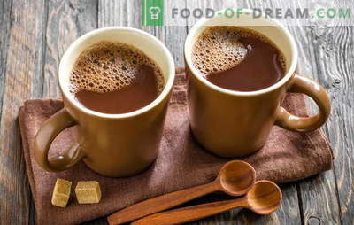 Cooking cocoa - we make our home happy! How to cook cocoa in milk, from powder, with condensed milk, with honey, with cinnamon and marshmallows