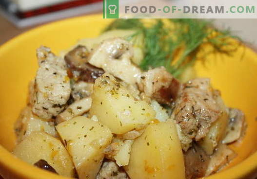 Stewed potatoes with chicken - the best recipes. How to properly and tasty cook stew potatoes with chicken.