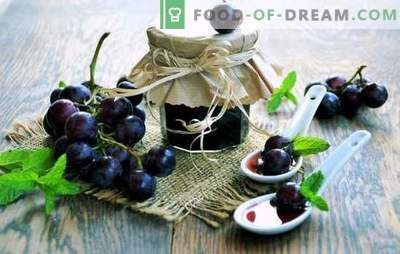 Grape jam - refinement and simplicity, charm and freshness all year round! There is bad weather outside, and we are warm with jam made from grapes - this is happiness!