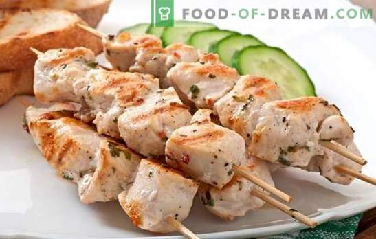 Skewers on skewers in the oven of pork - the aromas of summer. Recipes kebab skewers in the oven of pork in the sleeve, in foil, in a jar